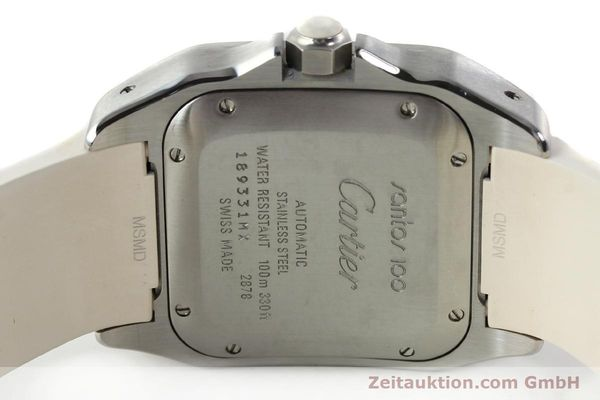 Used luxury watch Cartier Santos 100 steel automatic Kal. 076 ETA 2671  | 141836 09