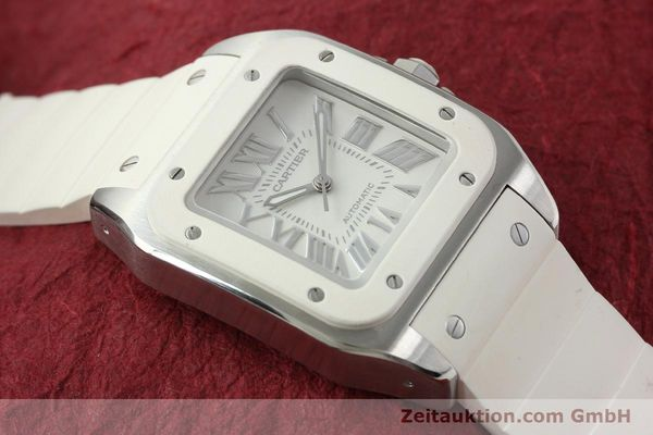 Used luxury watch Cartier Santos 100 steel automatic Kal. 076 ETA 2671  | 141836 16
