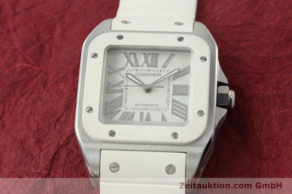 Used luxury watch Cartier Santos 100 steel automatic Kal. 076 ETA 2671  | 141836 17