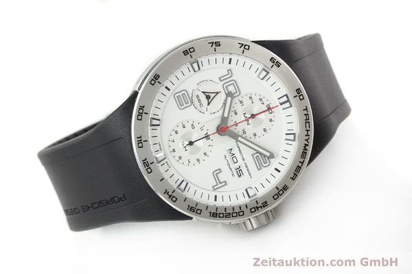 Used luxury watch Porsche Design Flat Six steel automatic Kal. ETA 7750 Ref. 6340.41/4  | 141839 03