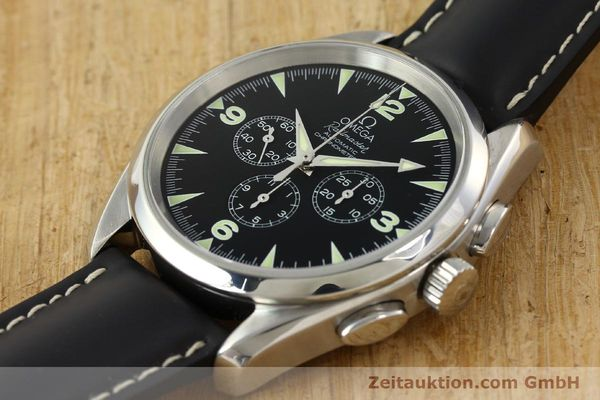 Used luxury watch Omega Railmaster chronograph steel automatic Kal. 3205A  | 141848 01