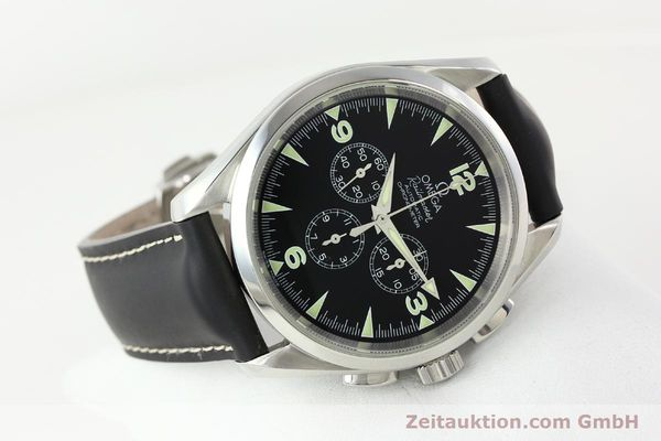 Used luxury watch Omega Railmaster chronograph steel automatic Kal. 3205A  | 141848 03