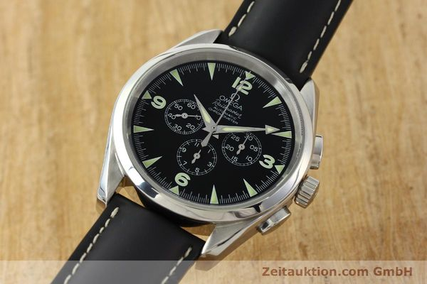 Used luxury watch Omega Railmaster chronograph steel automatic Kal. 3205A  | 141848 04