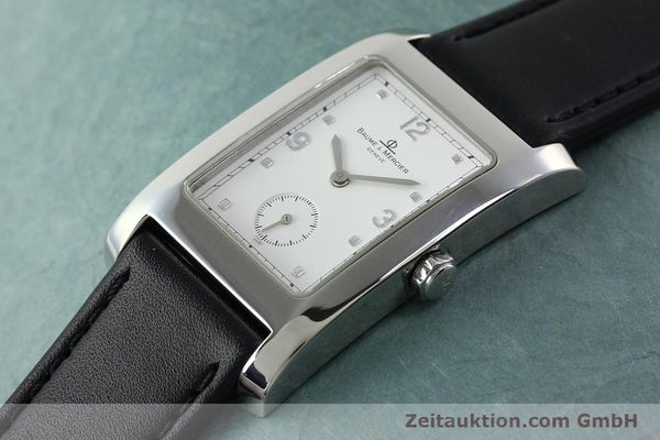 Used luxury watch Baume & Mercier Hampton steel quartz Kal. BM10163 ETA 980.163 Ref. MV045063  | 141850 01