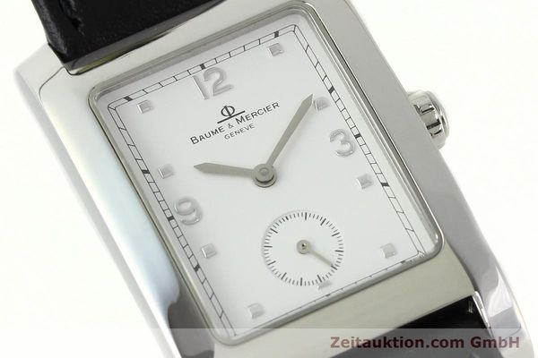 Used luxury watch Baume & Mercier Hampton steel quartz Kal. BM10163 ETA 980.163 Ref. MV045063  | 141850 02