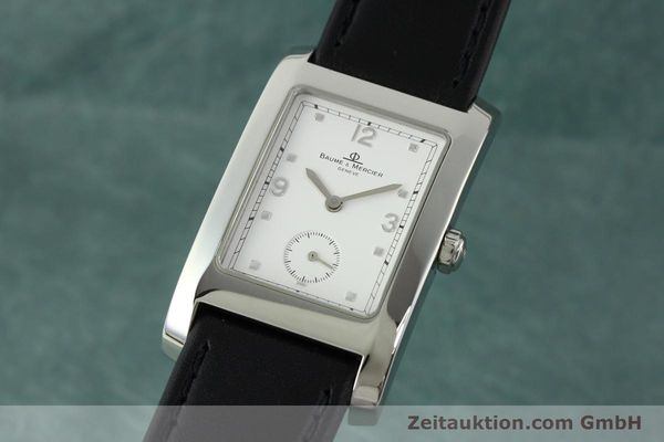 Used luxury watch Baume & Mercier Hampton steel quartz Kal. BM10163 ETA 980.163 Ref. MV045063  | 141850 04