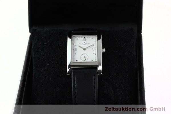 Used luxury watch Baume & Mercier Hampton steel quartz Kal. BM10163 ETA 980.163 Ref. MV045063  | 141850 07