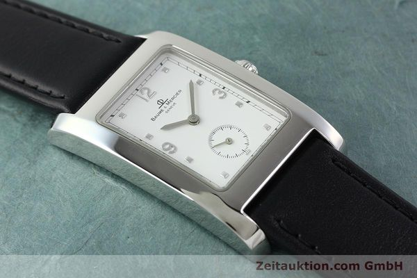 Used luxury watch Baume & Mercier Hampton steel quartz Kal. BM10163 ETA 980.163 Ref. MV045063  | 141850 12