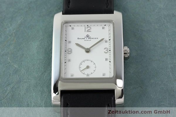 Used luxury watch Baume & Mercier Hampton steel quartz Kal. BM10163 ETA 980.163 Ref. MV045063  | 141850 13