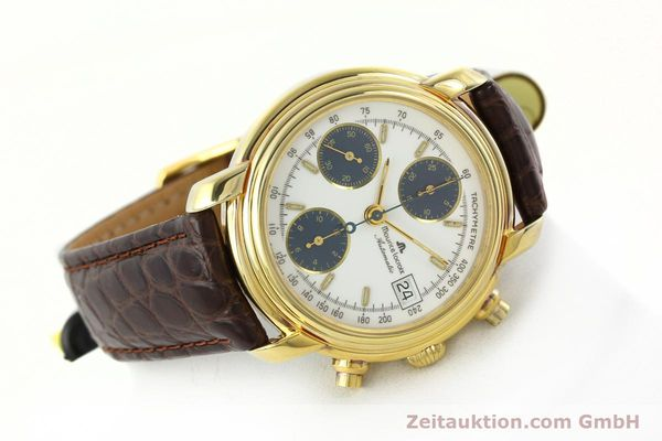 Used luxury watch Maurice Lacroix Croneo chronograph gold-plated automatic Kal. Valj. 7750 Ref. 03274  | 141852 03