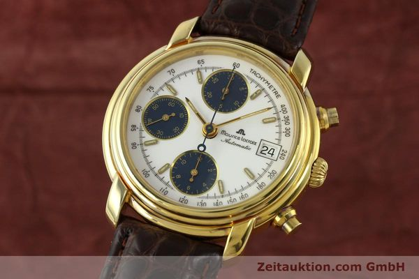 Used luxury watch Maurice Lacroix Croneo chronograph gold-plated automatic Kal. Valj. 7750 Ref. 03274  | 141852 04