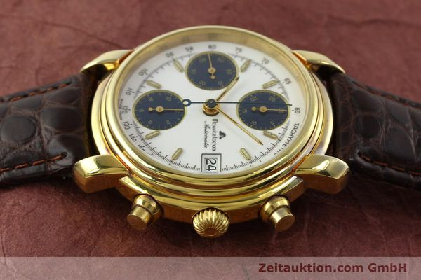 Used luxury watch Maurice Lacroix Croneo chronograph gold-plated automatic Kal. Valj. 7750 Ref. 03274  | 141852 05