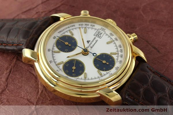 Used luxury watch Maurice Lacroix Croneo chronograph gold-plated automatic Kal. Valj. 7750 Ref. 03274  | 141852 12