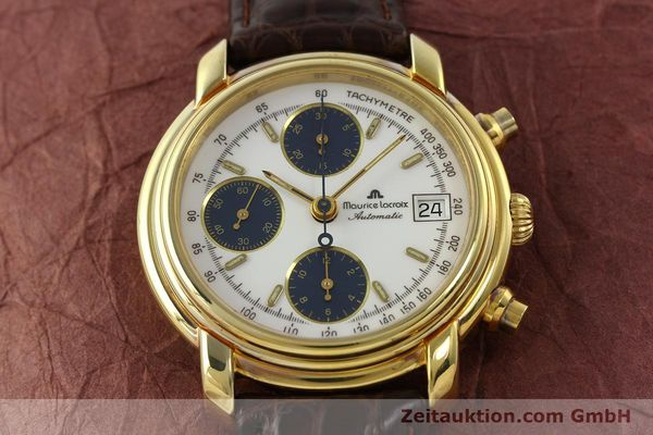 Used luxury watch Maurice Lacroix Croneo chronograph gold-plated automatic Kal. Valj. 7750 Ref. 03274  | 141852 13