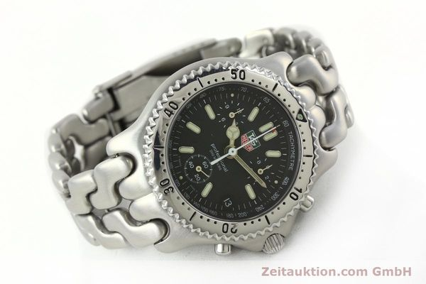 Used luxury watch Tag Heuer Professional chronograph steel quartz Kal. 4.90 ETA 251262 Ref. S39.306  | 141859 03