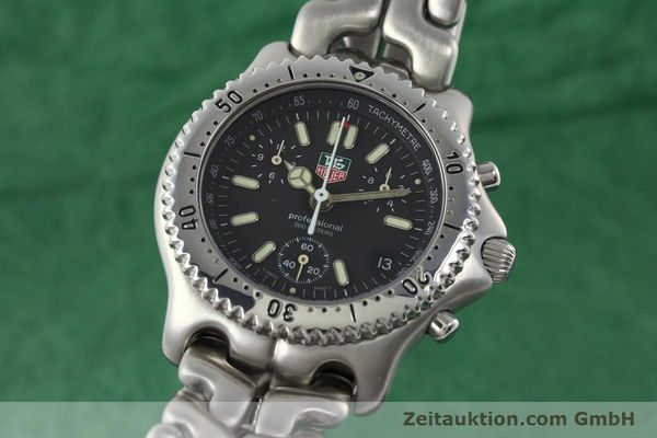 Used luxury watch Tag Heuer Professional chronograph steel quartz Kal. 4.90 ETA 251262 Ref. S39.306  | 141859 04