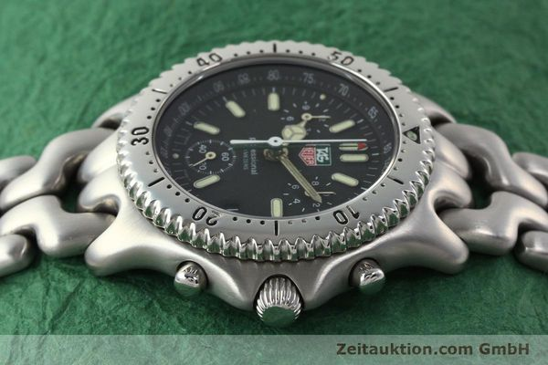 Used luxury watch Tag Heuer Professional chronograph steel quartz Kal. 4.90 ETA 251262 Ref. S39.306  | 141859 05