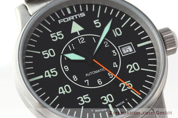 Used luxury watch Fortis Flieger steel automatic Kal. ETA 2824-2 Ref. 595.10.46.1  | 141864 02