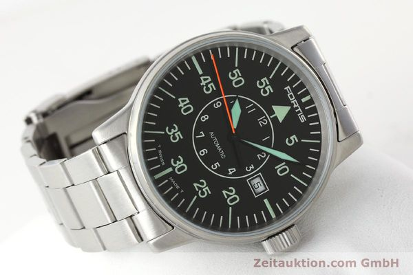 Used luxury watch Fortis Flieger steel automatic Kal. ETA 2824-2 Ref. 595.10.46.1  | 141864 03