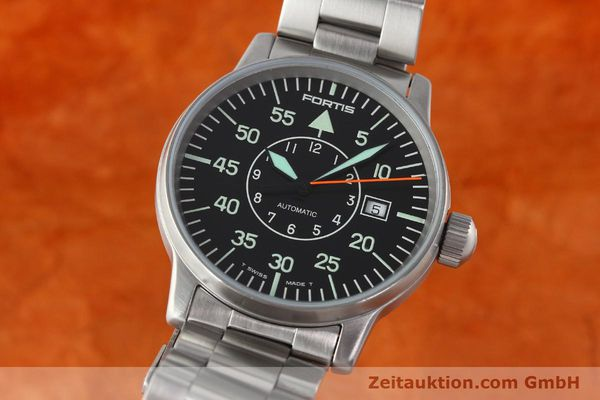 Used luxury watch Fortis Flieger steel automatic Kal. ETA 2824-2 Ref. 595.10.46.1  | 141864 04
