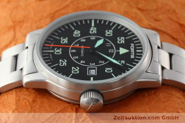 Used luxury watch Fortis Flieger steel automatic Kal. ETA 2824-2 Ref. 595.10.46.1  | 141864 05