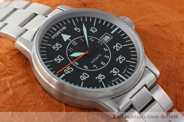 Used luxury watch Fortis Flieger steel automatic Kal. ETA 2824-2 Ref. 595.10.46.1  | 141864 15