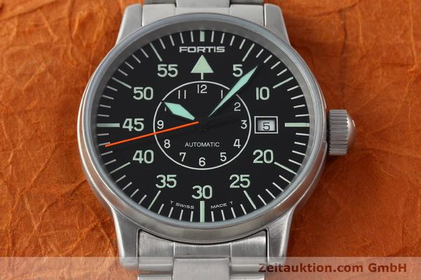 Used luxury watch Fortis Flieger steel automatic Kal. ETA 2824-2 Ref. 595.10.46.1  | 141864 16