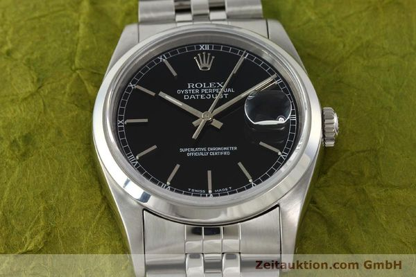 Used luxury watch Rolex Datejust steel automatic Kal. 3135 Ref. 16200  | 141868 16