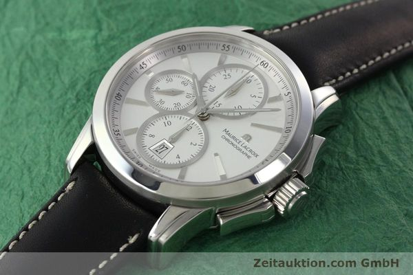 Used luxury watch Maurice Lacroix Pontos chronograph steel automatic Kal. ETA 7750 Ref. PT753/48  | 141869 01