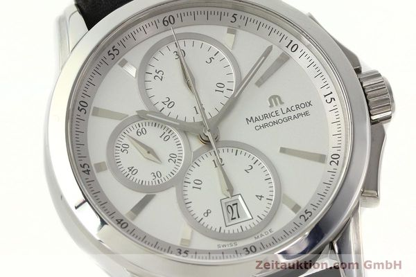 Used luxury watch Maurice Lacroix Pontos chronograph steel automatic Kal. ETA 7750 Ref. PT753/48  | 141869 02