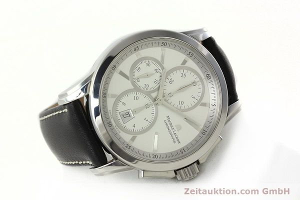 Used luxury watch Maurice Lacroix Pontos chronograph steel automatic Kal. ETA 7750 Ref. PT753/48  | 141869 03