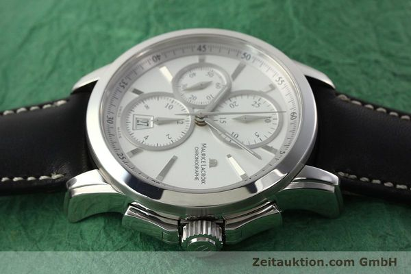 Used luxury watch Maurice Lacroix Pontos chronograph steel automatic Kal. ETA 7750 Ref. PT753/48  | 141869 05