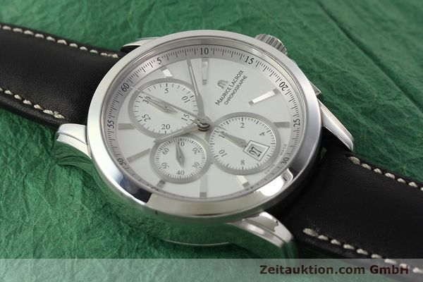 Used luxury watch Maurice Lacroix Pontos chronograph steel automatic Kal. ETA 7750 Ref. PT753/48  | 141869 14