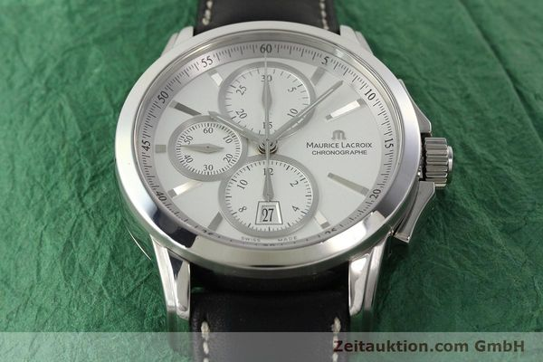 Used luxury watch Maurice Lacroix Pontos chronograph steel automatic Kal. ETA 7750 Ref. PT753/48  | 141869 15