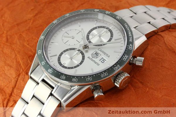 Used luxury watch Tag Heuer Carrera chronograph steel automatic Kal. 18 ETA 7750 Ref. CV2011  | 141871 01