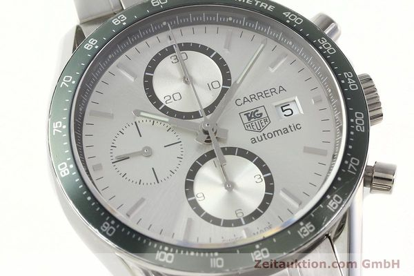 Used luxury watch Tag Heuer Carrera chronograph steel automatic Kal. 18 ETA 7750 Ref. CV2011  | 141871 02