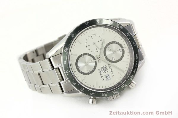 Used luxury watch Tag Heuer Carrera chronograph steel automatic Kal. 18 ETA 7750 Ref. CV2011  | 141871 03