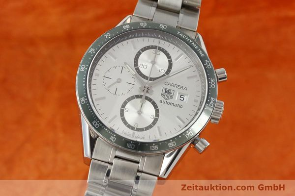 Used luxury watch Tag Heuer Carrera chronograph steel automatic Kal. 18 ETA 7750 Ref. CV2011  | 141871 04