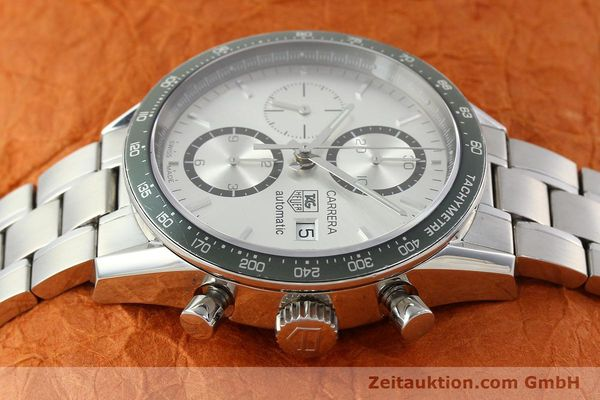 Used luxury watch Tag Heuer Carrera chronograph steel automatic Kal. 18 ETA 7750 Ref. CV2011  | 141871 05