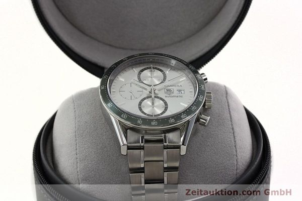 Used luxury watch Tag Heuer Carrera chronograph steel automatic Kal. 18 ETA 7750 Ref. CV2011  | 141871 07