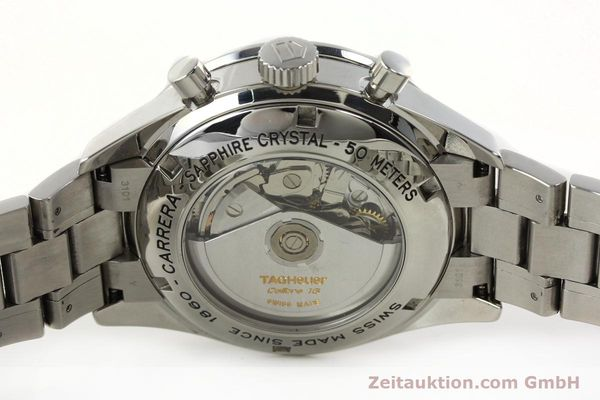 Used luxury watch Tag Heuer Carrera chronograph steel automatic Kal. 18 ETA 7750 Ref. CV2011  | 141871 09