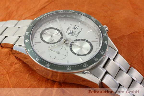 Used luxury watch Tag Heuer Carrera chronograph steel automatic Kal. 18 ETA 7750 Ref. CV2011  | 141871 15