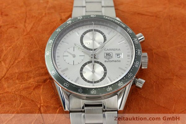 Used luxury watch Tag Heuer Carrera chronograph steel automatic Kal. 18 ETA 7750 Ref. CV2011  | 141871 16