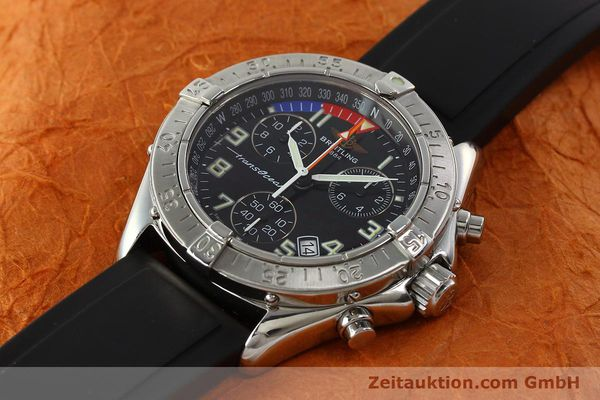 Used luxury watch Breitling Transocean chronograph steel quartz Kal. B53 ETA 251262 Ref. A53340  | 141875 01