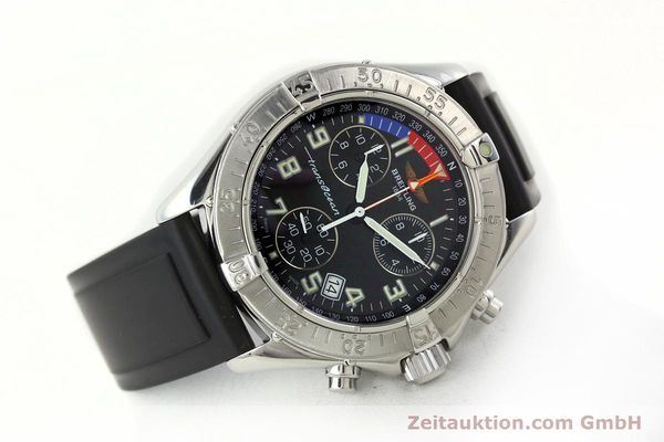 Used luxury watch Breitling Transocean chronograph steel quartz Kal. B53 ETA 251262 Ref. A53340  | 141875 03