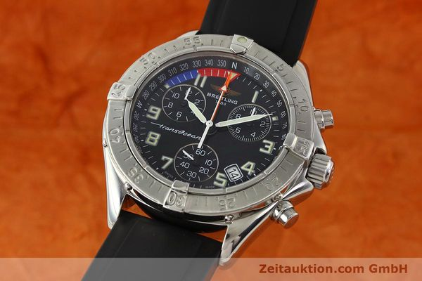 Used luxury watch Breitling Transocean chronograph steel quartz Kal. B53 ETA 251262 Ref. A53340  | 141875 04