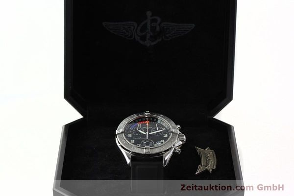 Used luxury watch Breitling Transocean chronograph steel quartz Kal. B53 ETA 251262 Ref. A53340  | 141875 07