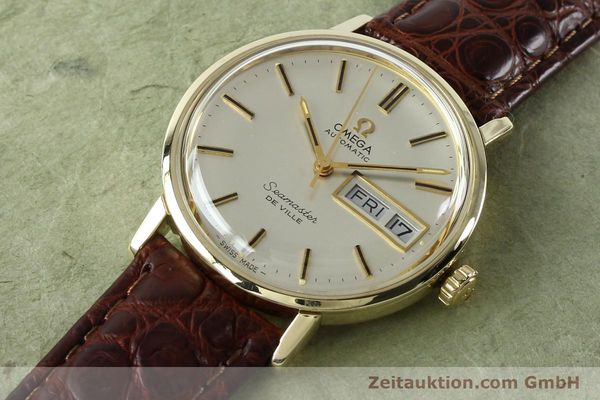 Used luxury watch Omega Seamaster 14 ct yellow gold automatic Kal. 1020 Ref. 004862 VINTAGE  | 141878 01