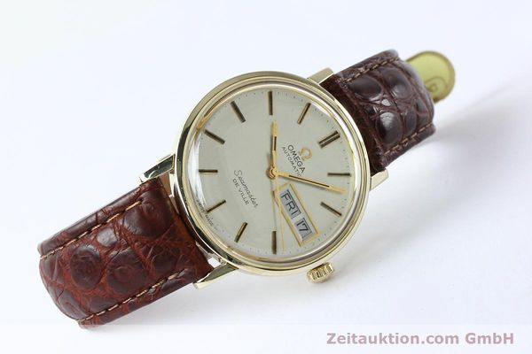 Used luxury watch Omega Seamaster 14 ct yellow gold automatic Kal. 1020 Ref. 004862 VINTAGE  | 141878 03