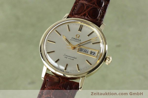 Used luxury watch Omega Seamaster 14 ct yellow gold automatic Kal. 1020 Ref. 004862 VINTAGE  | 141878 04
